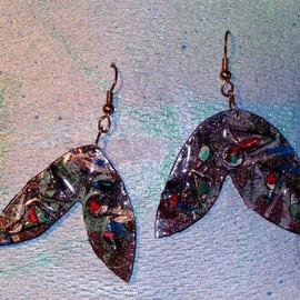 Richard Lazzara: 'butterfly ear ornaments', 1989 Mixed Media Sculpture, Fashion. Artist Description: butterfly ear ornaments from the folio LAZZARA ILLUMINATION DESIGN are available at