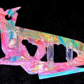Richard Lazzara: 'cats meow pin ornament', 1989 Mixed Media Sculpture, Fashion. Artist Description: cats meow pin ornament from the folio LAZZARA ILLUMINATION DESIGN is available at