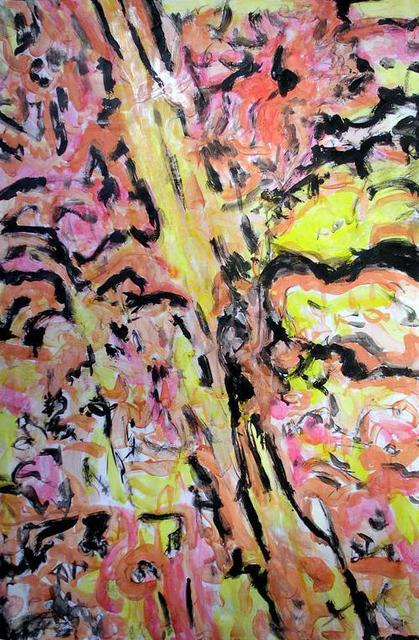 Richard Lazzara  'Center Core Rising', created in 1995, Original Pastel.