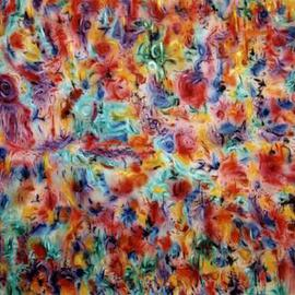 Richard Lazzara: 'chakra garden', 1995 Acrylic Painting, Culture. Artist Description: chakra garden by Richard Lazzara is available from the
