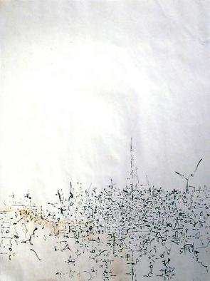 Artist: Richard Lazzara - Title: city level - Medium: Calligraphy - Year: 1975
