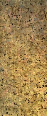 Artist: Richard Lazzara - Title: city of multiplicity touched - Medium: Calligraphy - Year: 1976
