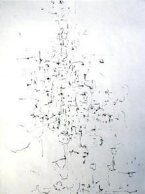 Artist: Richard Lazzara - Title: clef - Medium: Calligraphy - Year: 1974