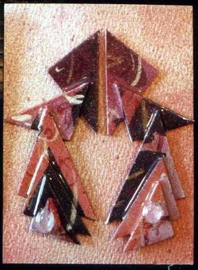 Richard Lazzara: 'construction ear ornaments', 1989 Mixed Media Sculpture, Fashion. Artist Description: construction ear ornaments from the folio LAZZARA ILLUMINATION DESIGN are available at
