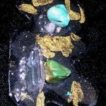 crushed crystal pin ornament By Richard Lazzara