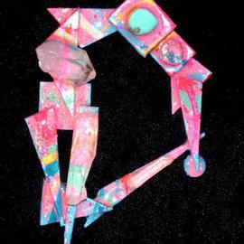 Richard Lazzara: 'crystal circle pin ornament', 1989 Mixed Media Sculpture, Fashion. Artist Description: crystal circle pin ornament from the folio LAZZARA ILLUMINATION DESIGN is available at