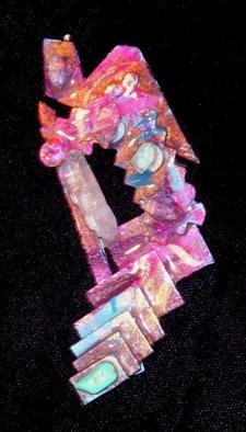 Richard Lazzara Artwork crystal marching pin ornament, 1989 Mixed Media Sculpture, Fashion