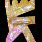 crystal mouth pin ornament By Richard Lazzara