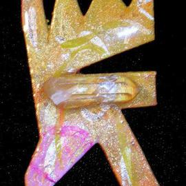 Richard Lazzara: 'crystal mouth pin ornament', 1989 Mixed Media Sculpture, Fashion. Artist Description: crystal mouth pin ornament from the folio LAZZARA ILLUMINATION DESIGN is available at
