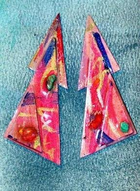 Richard Lazzara: 'debutant ear ornaments', 1989 Mixed Media Sculpture, Fashion. Artist Description: debutant ear ornaments from the folio LAZZARA ILLUMINATION DESIGN are available at