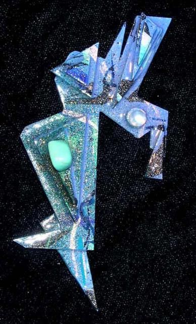 Richard Lazzara  'Deep Sea Diver Pin Ornament', created in 1989, Original Pastel.