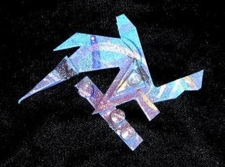 Richard Lazzara Artwork deep soul diving pin ornament, 1989 Mixed Media Sculpture, Fashion