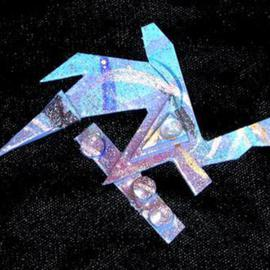 Richard Lazzara: 'deep soul diving pin ornament', 1989 Mixed Media Sculpture, Fashion. Artist Description: deep soul diving pin ornament from the folio LAZZARA ILLUMINATION DESIGN is available at