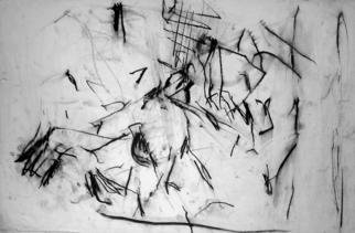 Artist: Richard Lazzara - Title: density of time - Medium: Charcoal Drawing - Year: 1972