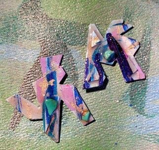 Richard Lazzara Artwork dogs bark ear ornaments, 1989 Mixed Media Sculpture, Fashion