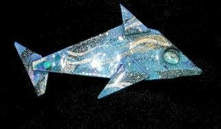 Richard Lazzara Artwork dolphins tails told pin ornament, 1989 Mixed Media Sculpture, Fashion