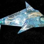 dolphins tails told pin ornament By Richard Lazzara