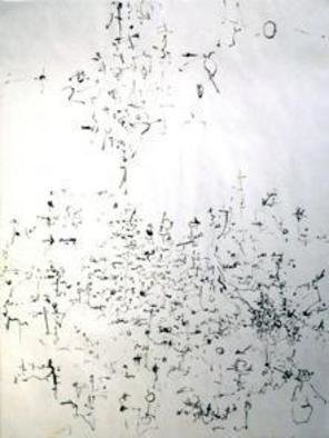 Artist: Richard Lazzara - Title: dragons flight - Medium: Calligraphy - Year: 1974