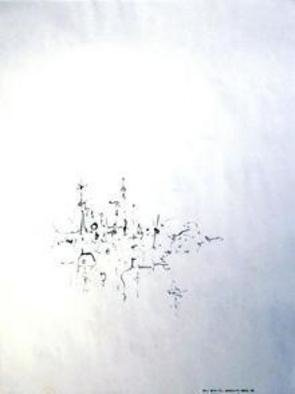 Artist: Richard Lazzara - Title: dwelling here  - Medium: Calligraphy - Year: 1974