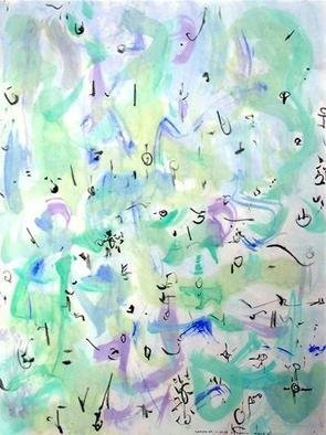 Artist: Richard Lazzara - Title: earth maze - Medium: Calligraphy - Year: 1975