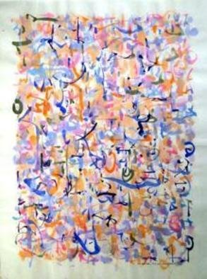 Artist: Richard Lazzara - Title: electrons - Medium: Calligraphy - Year: 1974