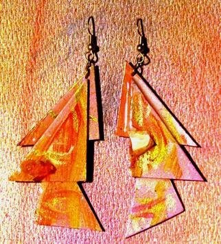 Richard Lazzara: 'elegant slant ear ornaments', 1989 Mixed Media Sculpture, Fashion. elegant slant ear ornaments from the folio LAZZARA ILLLUMINATION DESIGN are available at
