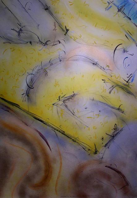 Richard Lazzara  'Established On The Ground Soil', created in 1988, Original Pastel.