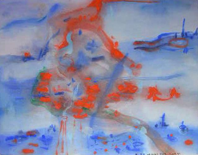 Richard Lazzara  'Expected From The Leader', created in 1981, Original Pastel.