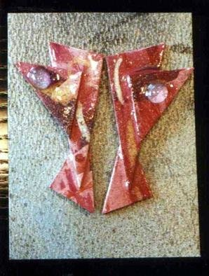 Richard Lazzara Artwork eyes window ear ornaments , 1989 Mixed Media Sculpture, Fashion