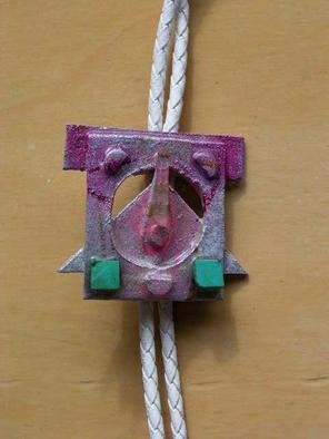 Richard Lazzara Artwork face it bolo or pin ornament, 1989 Mixed Media Sculpture, Fashion