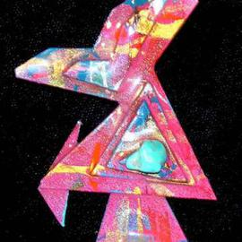 falling crystal pin ornament  By Richard Lazzara