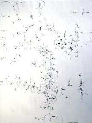 Artist: Richard Lazzara - Title: feast - Medium: Calligraphy - Year: 1974