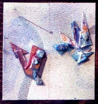 Richard Lazzara: 'fish ear ornaments', 1989 Mixed Media Sculpture, Fashion. Artist Description: fish ear ornaments from the folio LAZZARA ILLUMINATION DESIGN are available at