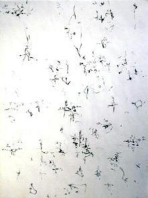 Artist: Richard Lazzara - Title: floating lotus - Medium: Calligraphy - Year: 1974