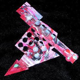 Richard Lazzara Artwork found objects pin ornament, 1989 Mixed Media Sculpture, Fashion
