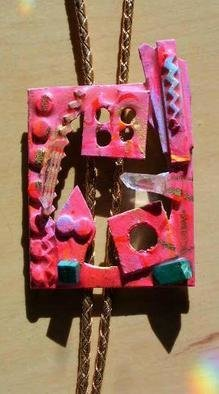 Richard Lazzara: 'framed art bolo or pin ornament', 1989 Mixed Media Sculpture, Fashion. framed art bolo or pin ornament from the folio LAZZARA ILLUMINATION DESIGN is available at