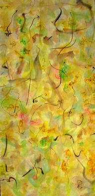 Artist: Richard Lazzara - Title: furtive world vision - Medium: Calligraphy - Year: 1976
