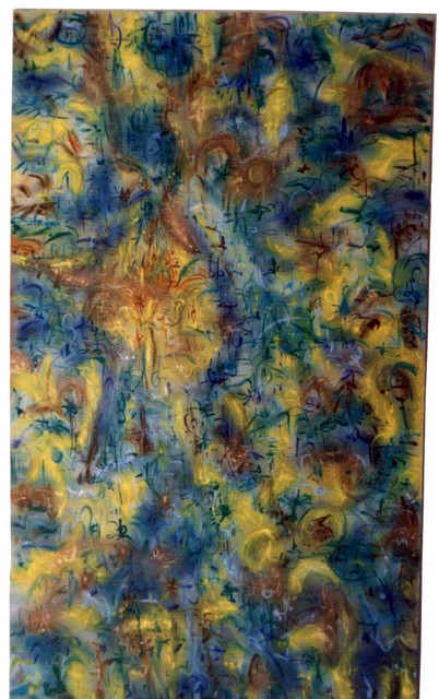 Richard Lazzara  'Garden Tour', created in 1989, Original Pastel.
