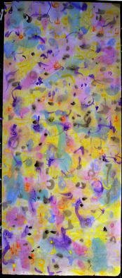 Artist: Richard Lazzara - Title: giraffe in a park - Medium: Calligraphy - Year: 1976