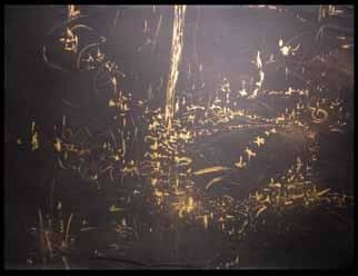 Artist: Richard Lazzara - Title: golden dreams - Medium: Calligraphy - Year: 1984