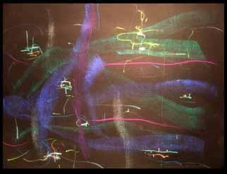 Artist: Richard Lazzara - Title: govardanam krishna - Medium: Calligraphy - Year: 1984