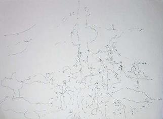 Richard Lazzara: 'grave humility', 1974 Calligraphy, Visionary. GRAVE HUMILITY, from the folio MINDSCAPES is available at