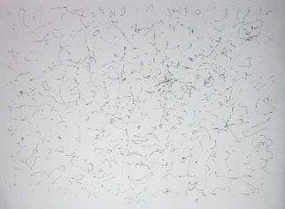 Richard Lazzara: 'habits opinions', 1974 Calligraphy, Visionary. HABITS OPINIONS, from the folio MINDSCAPES is available at