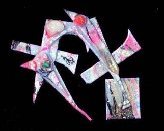 Richard Lazzara: 'head in the sand pin ornament', 1989 Mixed Media Sculpture, Fashion. head in the sand pin ornament from the folio LAZZARA ILLUMINATION DESIGN are available at