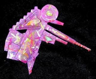 Richard Lazzara: 'hunter of forest pin ornament', 1989 Mixed Media Sculpture, Fashion. hunter of forest pin ornament from the folio LAZZARA ILLUMINATION DESIGN is available at