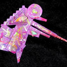 Richard Lazzara: 'hunter of forest pin ornament', 1989 Mixed Media Sculpture, Fashion. Artist Description: hunter of forest pin ornament from the folio LAZZARA ILLUMINATION DESIGN is available at