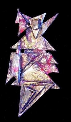 Richard Lazzara Artwork in the mix pin ornament, 1989 Mixed Media Sculpture, Fashion
