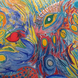 , Peacock Eye, Abstract, $2,625