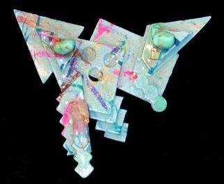 Richard Lazzara Artwork inner arrow pin ornament, 1989 Mixed Media Sculpture, Fashion