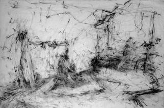 Artist: Richard Lazzara - Title: invisible energies shown to you - Medium: Charcoal Drawing - Year: 1972
